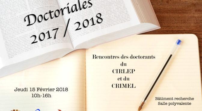 Doctoriales 2017-2018